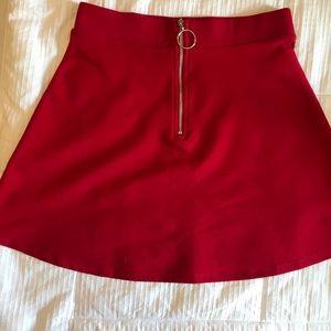 Red Skater/Circle Skirt